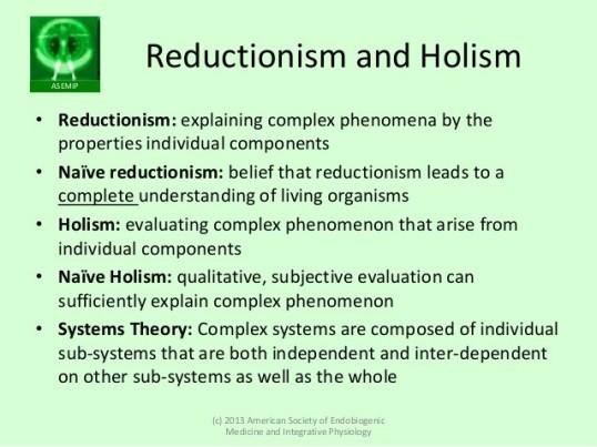 reductionismholism